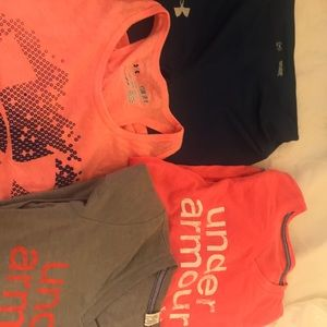 Lot of under armour youth small girls